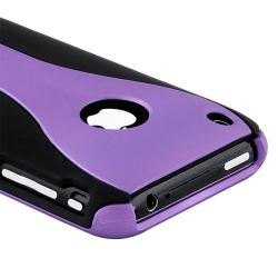 Dark Purple/ Black Cup Shape Snap-on Case for Apple iPhone 3G/ 3GS