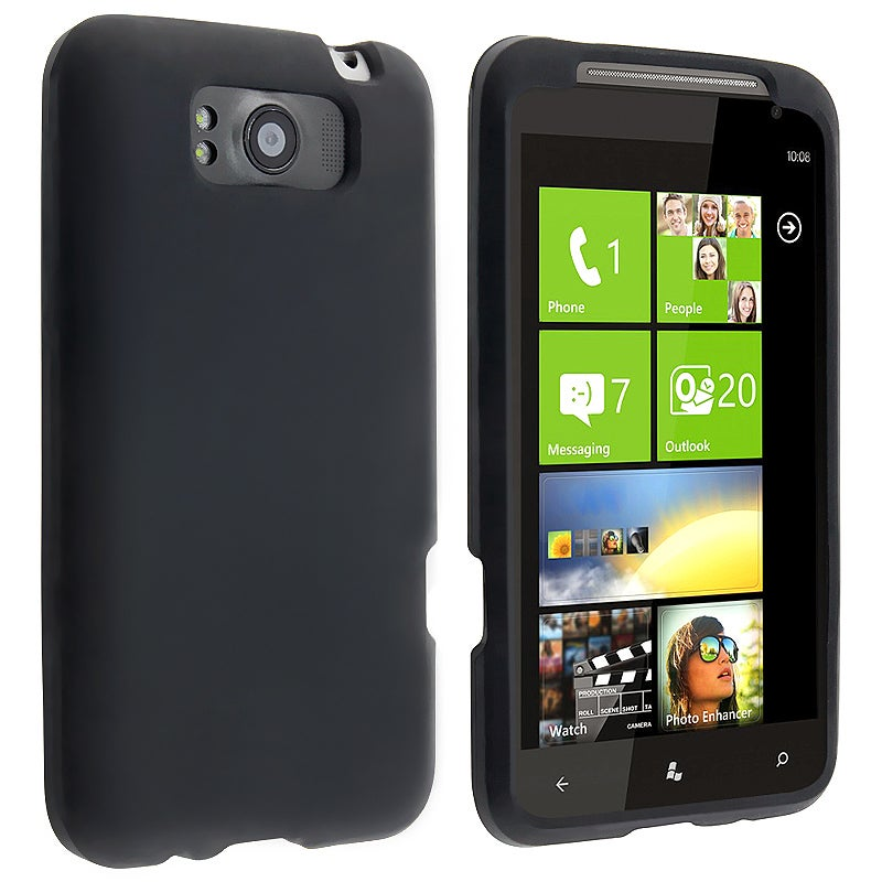 Black Silicone Skin Case for HTC Titan