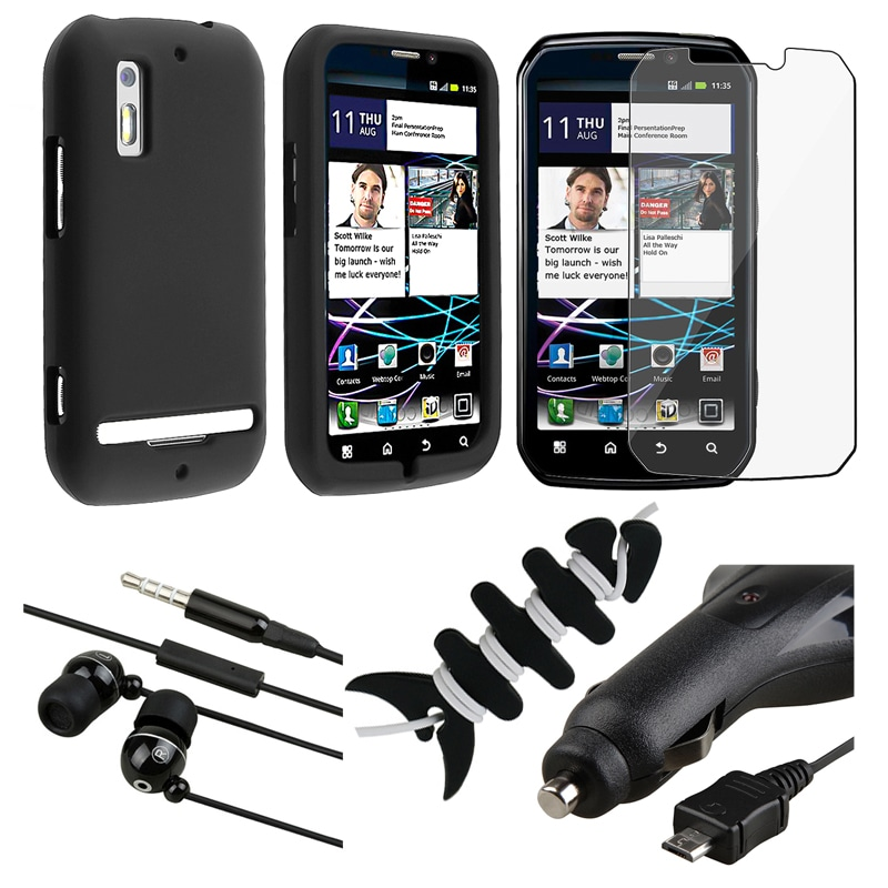 Case/ LCD Protector/ Headset/ Wrap/ Charger for Motorola Photon MB855