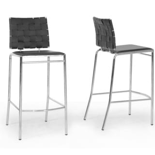 "Modern Faux Leather 26"" Counter Stool by Baxton Studio"