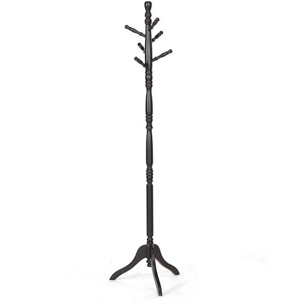 Oliver Wooden Coat Stand  Free Shipping Today  Overstockcom