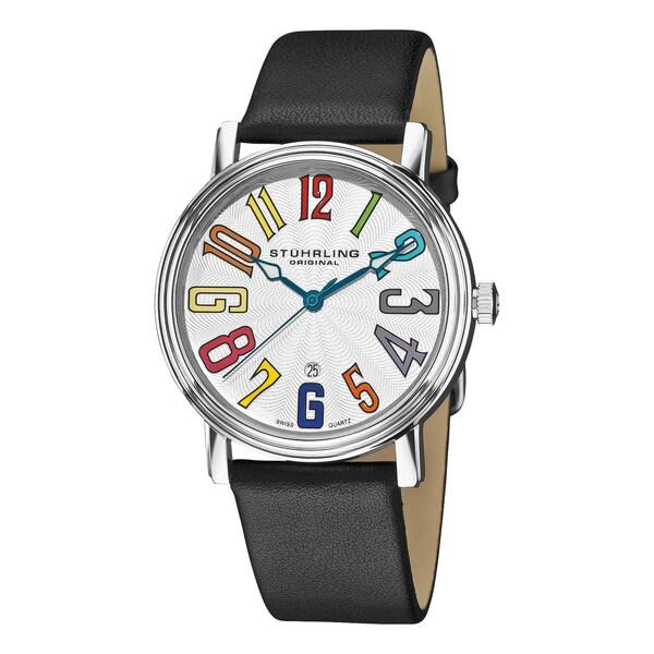 Stuhrling Original Men's Roulette Rainbow Swiss Quartz Date Watch