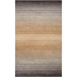 Hand-crafted Brown/Grey Ombre Casual Attica Wool Area Rug (8' x 11') - Thumbnail 0