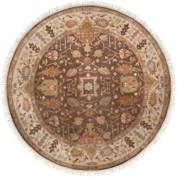 Hand-knotted Crete Semi-worsted New Zealand Wool Rug (8' Round)