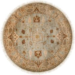 Hand-knotted Glasgow Semi-worsted New Zealand Wool Rug (8' Round)