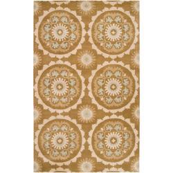 Hand-tufted 'Galloway' Beige New Zealand Wool Area Rug (8' x 11') - Thumbnail 0