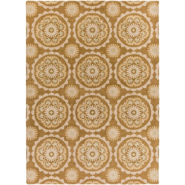 Hand-tufted 'Galloway' Beige New Zealand Wool Area Rug - 8' X 11'