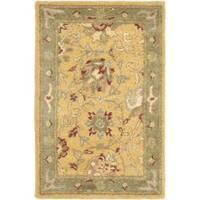 Safavieh Handmade Traditions Gold/Sage Wool Rug - 2' x 3'