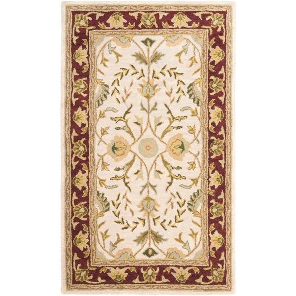 Safavieh Handmade Heritage Timeless Traditional Beige/ Red Wool Rug (3' x 5')
