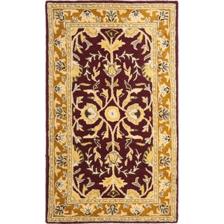 Safavieh Handmade Heritage Timeless Traditional Red/ Gold Wool Area Rug (3' x 5')