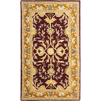 Safavieh Handmade Heritage Timeless Traditional Red/ Gold Wool Area Rug - 3' x 5'