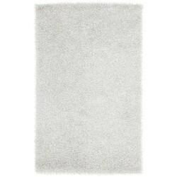 Hand-woven White Soft Shag (5' x 8')