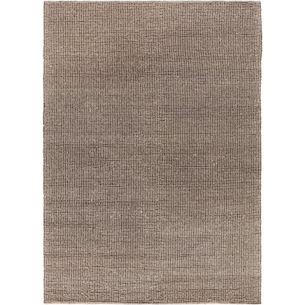 Hand-woven Casual Solid Grey Aberdeen Wool Area Rug - 8' x 11'