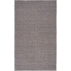 Hand-woven Casual Solid Grey Aberdeen Wool Area Rug - 8' x 11' - Thumbnail 0