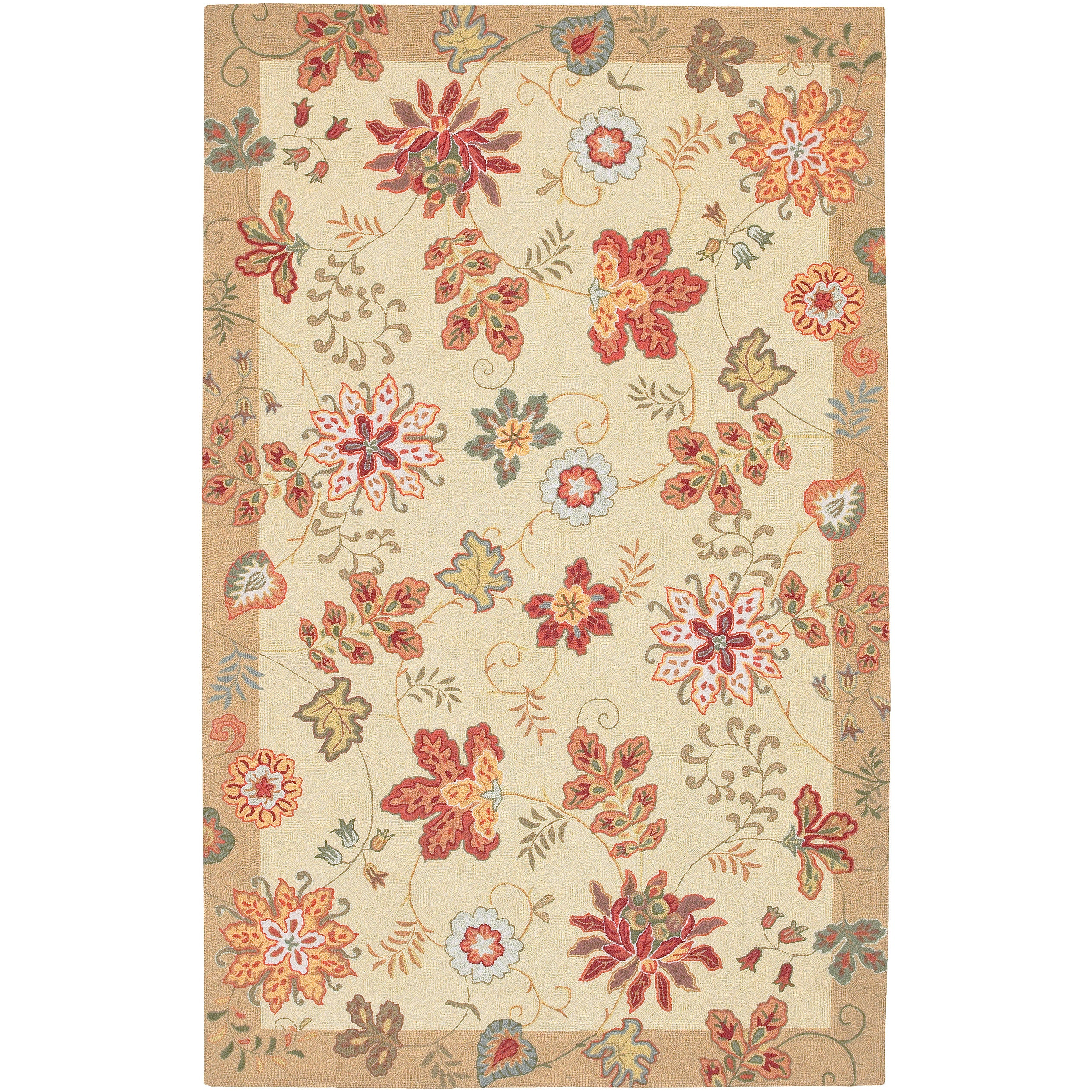 Shop Hand Hooked Dundalk Cream Multi Colored Wool Rug 9