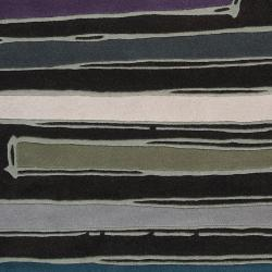 Noah Packard Hand-tufted Black Contemporary Nile Abstract New Zealand Wool Abstract Rug (5' - Thumbnail 1
