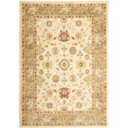 "Safavieh Oushak Traditional Cream/Green Power-Loomed Rug (5'3"" x 7'6"")"