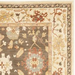 Safavieh Traditional Oushak Brown/Cream Power-Loomed Rug (8' x 11') - Thumbnail 1