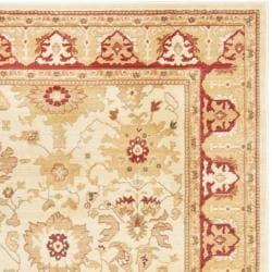 Safavieh Oushak Cream/ Red Powerloomed Rug (9'6 x 13')
