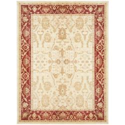 Safavieh Oushak Cream/ Red Powerloomed Rug (9'6 x 13')