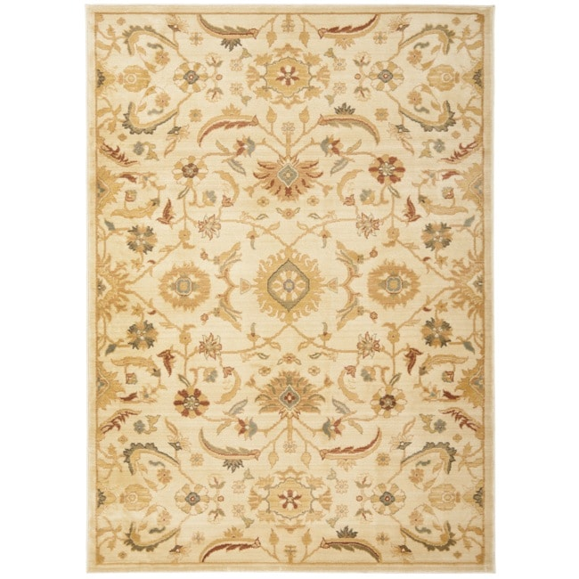 Safavieh Oushak Cream/ Gold Powerloomed Rug (4' x 5'7)