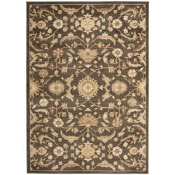 Safavieh Oushak Brown/ Gold Powerloomed Rug (8' x 11')