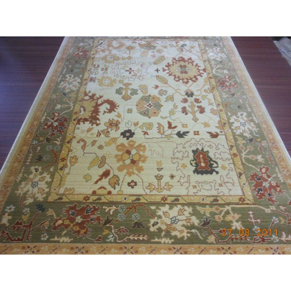 Safavieh Oushak Heirloom Traditional Cream/ Green Rug - 8' X 11'