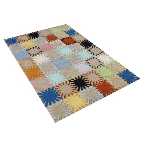 Alliyah Handmade Multicolored New Zealand Blend Wool Rug - 5' x 8'