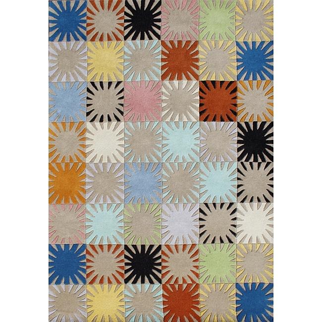 Alliyah Handmade Multicolored New Zealand Blend Wool Rug (5' x 8')