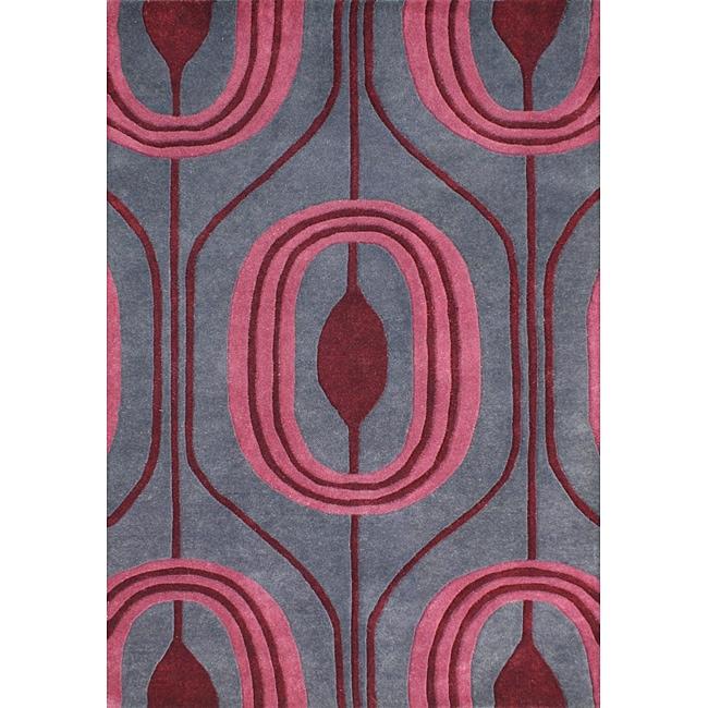 Alliyah Handmade Charcoal Gray New Zealand Blend Wool Rug (5' x 8')