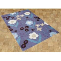 Alliyah Handmade Purple New Zealand Blend Wool Rug (4' x 6') - Thumbnail 1