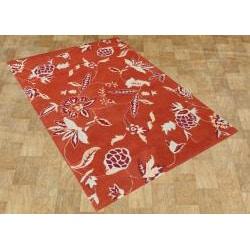 Alliyah Handmade Rust New Zealand Blend Wool Rug (5' x 8') - Thumbnail 1