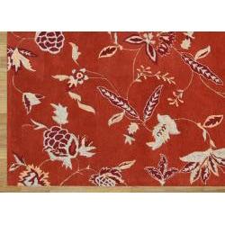 Alliyah Handmade Rust New Zealand Blend Wool Rug (5' x 8') - Thumbnail 2