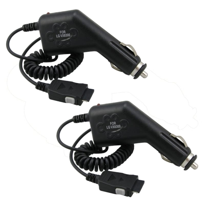 INSTEN Cell Phone Car Charger for LG Verizon VX8300/ VX-8300 (Pack of 2)
