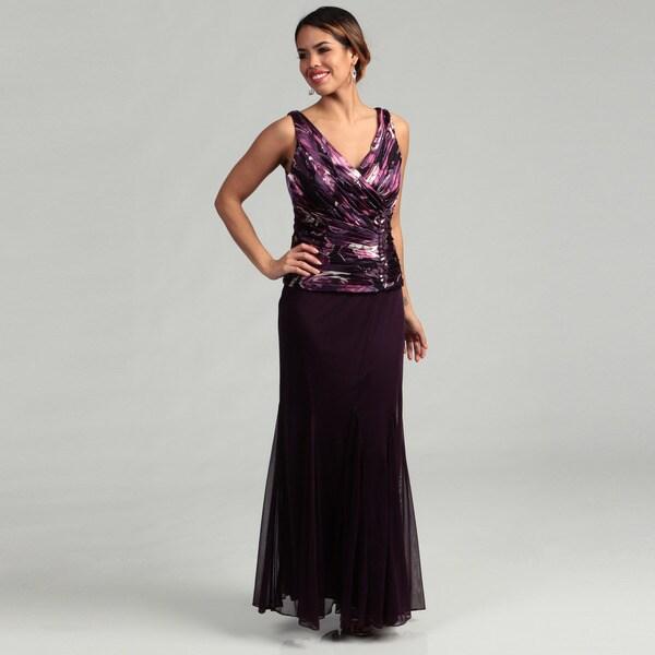 Patra Women's Plum Two-piece Dress