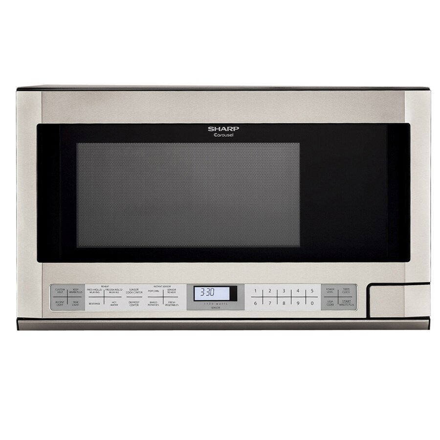 Sharp 1.5 Cubic-Foot 1100-Watt Over-the-Counter Microwave