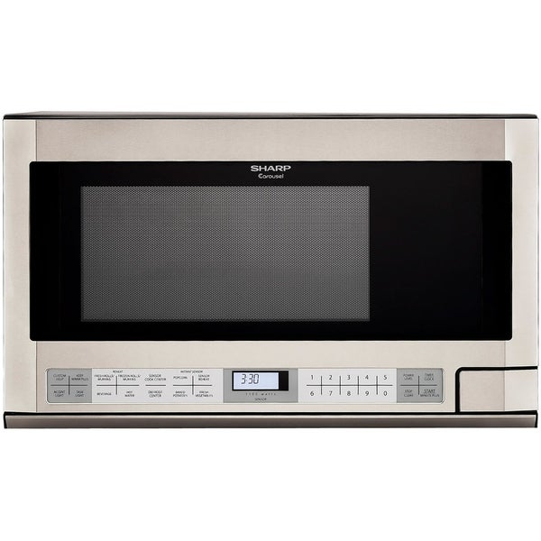 Sharp 1 5 Cubic Foot 1100 Watt Over The Counter Microwave