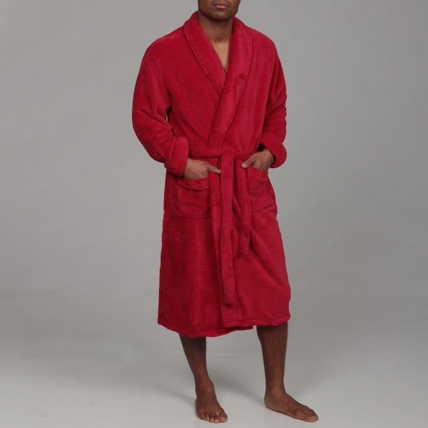 Woven Workz Unisex 'Boston' Red Microfiber Bath Robe