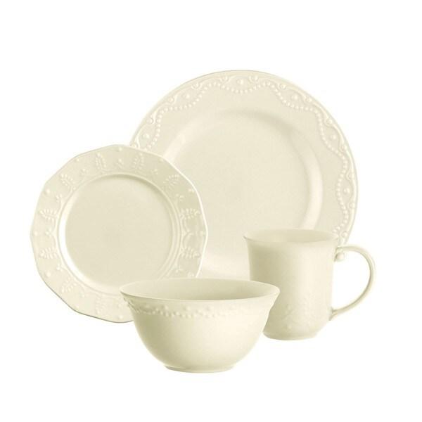 Paula Deen Whitaker Vanilla 16-piece Dinnerware Set