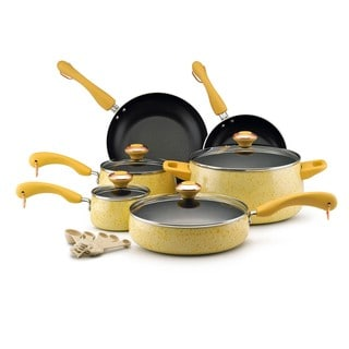 Paula Deen Signature Collection Porcelain Nonstick 15-piece Butter Speckle Cookware Set
