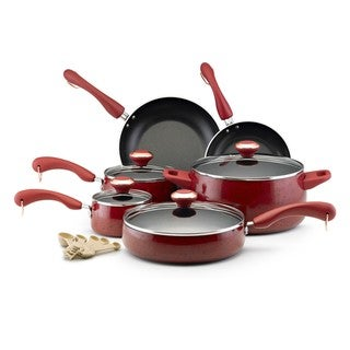 Link to Paula Deen Collection Red Speckle Nonstick 15-piece Cookware Set Similar Items in Cookware