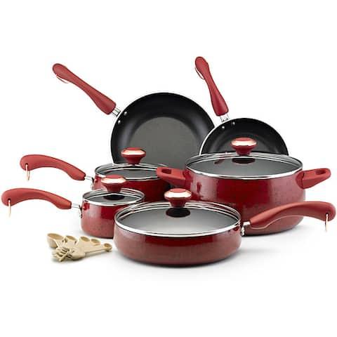 Paula Deen Collection Red Speckle Nonstick 15-piece Cookware Set
