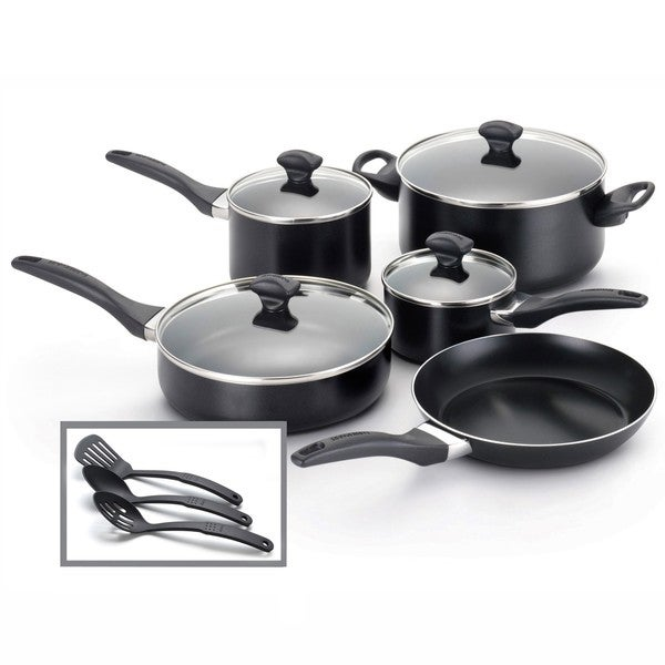Farberware Dishwasher Safe Nonstick 12-Piece Cookware Set **with $10 Mail-In Rebate**