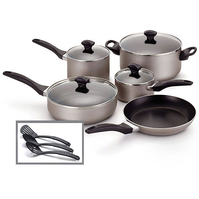 Farberware Champagne Nonstick 12-piece Cookware Set **with $10 Mail-In Rebate**