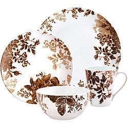 Paula Deen Tatnall Street Brown 16-piece Dinnerware Set - Free Shipping Today - Overstock - 14050411  sc 1 st  Overstock.com & Paula Deen Tatnall Street Brown 16-piece Dinnerware Set - Free ...
