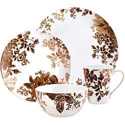 Paula Deen Tatnall Street Brown 16 Piece Dinnerware Set