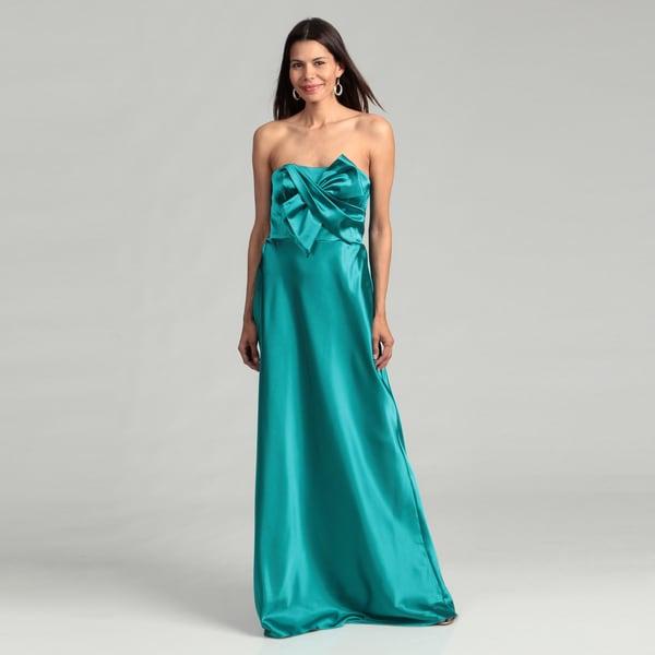 Adrianna Papell Women's Amazon Bow Bodice Dress