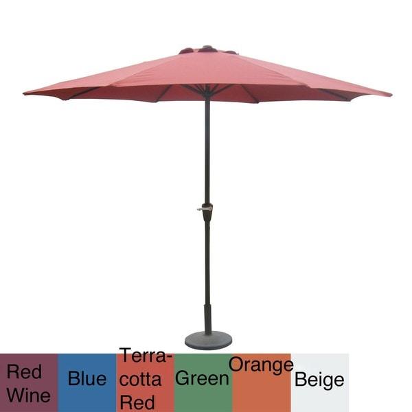 Aluminum 10-foot Patio Umbrella with Crank