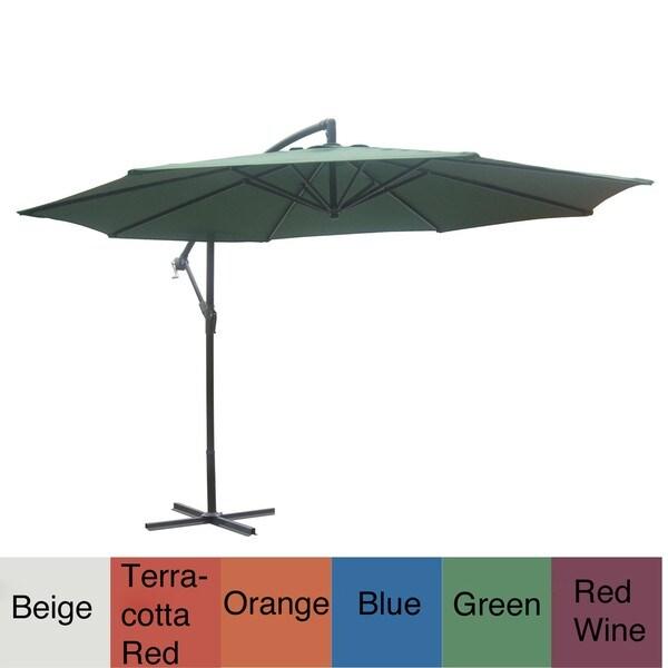Aluminum Patio 10-foot Offset Umbrella