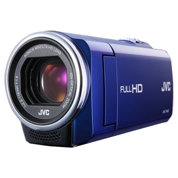 "JVC Everio GZ-E10 Digital Camcorder - 2.7"" LCD - CMOS - Full HD - Blu"